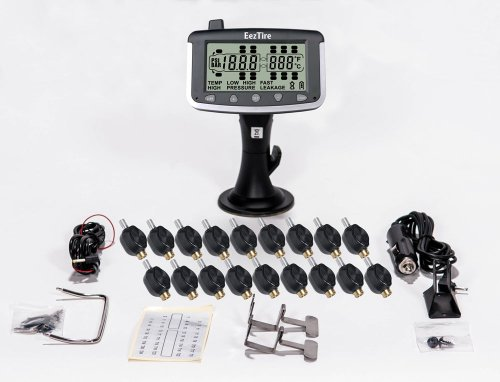 EEZTire Tire Pressure Monitoring System - 18 Flow-Through Sensors (TPMS) - FREE U.S. SHIPPING AT CHECK OUT