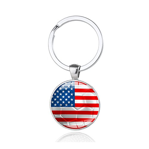 World National Flag (Shoopic Football Pendant Keychain National Flag keyring for World Cup)