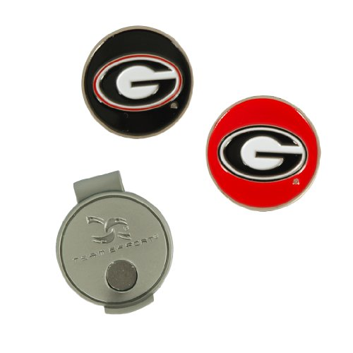 Team Effort Georgia Bulldogs Hat Clip & 2 Ball Markers (Georgia Balls Bulldogs Golf)