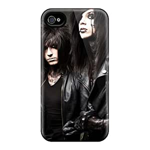 Bumper Hard Phone Cases For Iphone 4/4s With Unique Design High-definition Black Veil Brides Band BVB Pictures KevinCormack