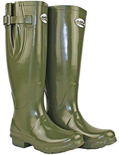 Olive UK4 Wellies Adjustable Tall Gloss Rockfish Dark wXqYdYn