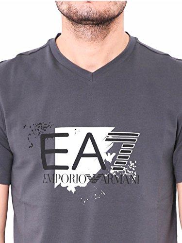Emporio Armani EA7 camisedade manga corta cuello en v hombre nuevo gris Grey