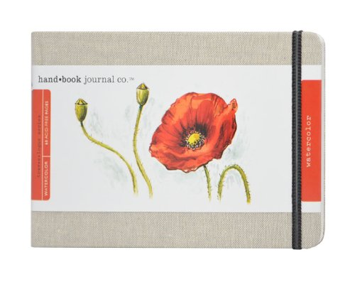 Speedball Travelogue Watercolor Book Artist Journal, Large Landscape, Natural