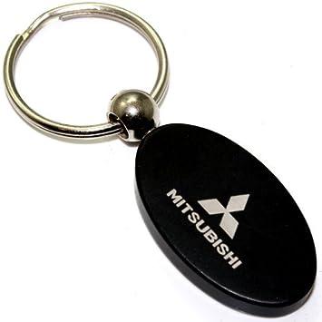 Metal, Aluminio Negro Oval Mitsubishi Logo Llavero Anillo ...