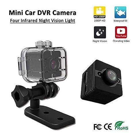 Zhang SQ12 Mini cámara Oculta inalámbrica, HD 1080P Mini cámara de visión Nocturna DV Recorder