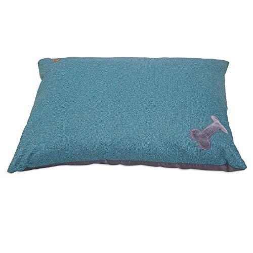 MuttNation Fueled by Miranda Lambert Bone Applique Pillow Dog Bed, Denim Print
