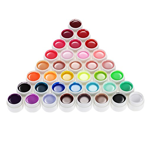 Anself 36 Color Nail Art Polish Pigment Set UV Gel Solid Glue (Type 1)