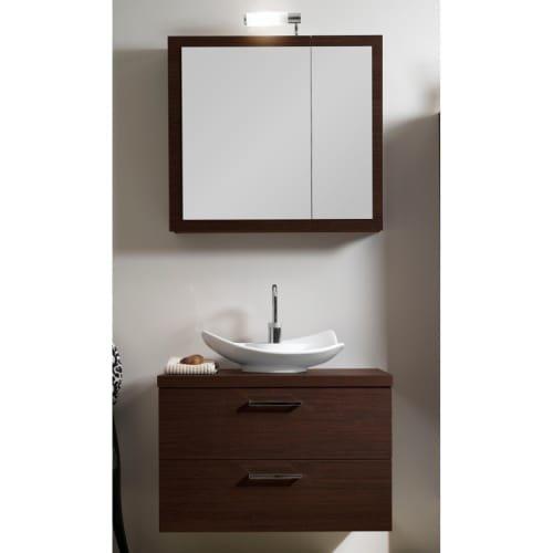 Iotti Iotti A15-Wenge-637509912314 Aurora Collection Bathroom Vanity, Wenge - Iotti Aurora Collection