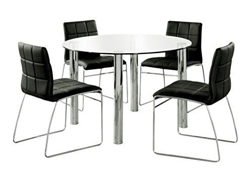 247SHOPATHOME IDF-8320T-BK-4PK Dining-Room-Sets, Black For Sale