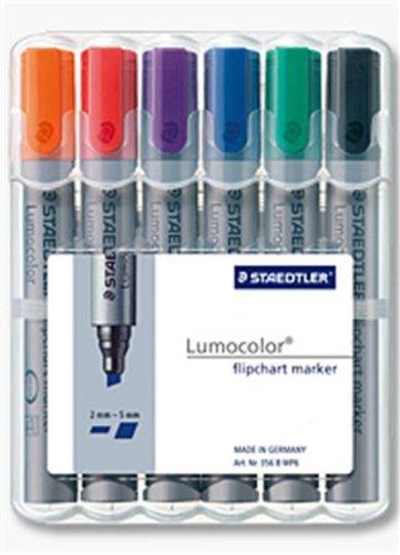 Staedtler 356 B WP6 Lumocolor flipchart marker 6 Stück in aufstellbarer Staedtler-Box