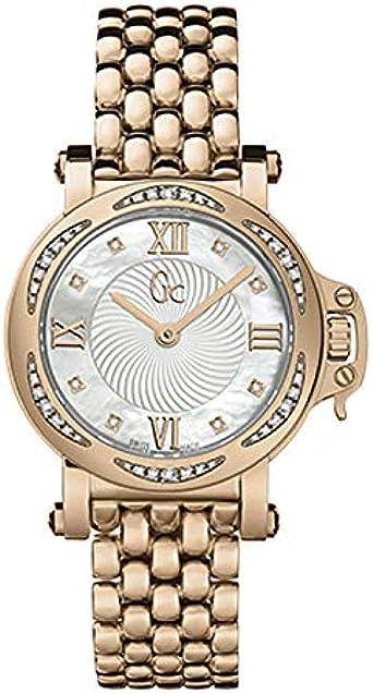 Guess GC X52107L1S Femme Bijou - Reloj de pulsera para mujer (acero inoxidable y oro rosa)