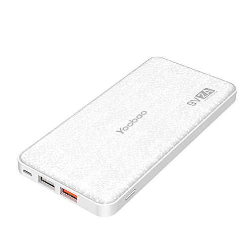 yoobao q12 12000mah rapid charge power bank ultra slim portable charger with qualcomm quick