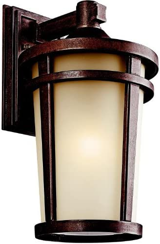 Kichler 49073BSTFL Atwood Outdoor Wall 1-Light Fluorescent, Brown Stone
