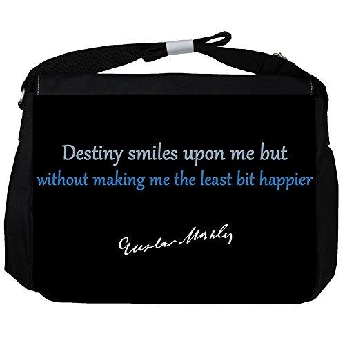 Destiny smiles upon - Gustav Mahler Unisex Umhängetasche