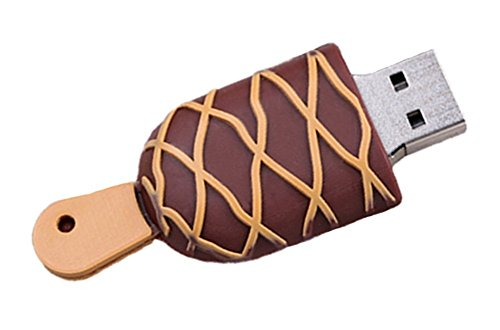 Hosaire U-Disk Cute Chocolate Popsicle Shape USB Flash Drive 8 GB USB 2.0 Flash Memory Stick (Chocolate Usb Drive)