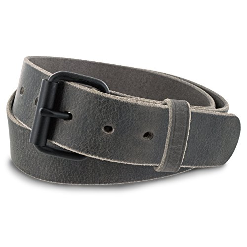 """Hanks Glacier - """"No Break"""" Thick Leather Belt - Mens Heavy Duty Belts - USA Made - 100 Year Warranty - Size 40"""