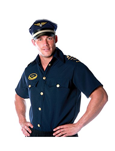 First Pilot Costumes (Underwraps Costumes Men's Pilot Costume - Shirt -Plus, Navy, XX-Large)