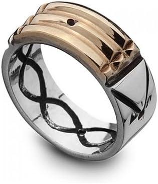 ejemplo de anillo atlante de oro y plata