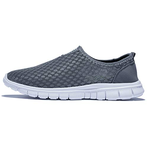 KENSBUY Mens Breathable and Durable Sports Running Shoes Lightweight Mesh Walking Sneakers EU41 Grey by KENSBUY (Image #3)