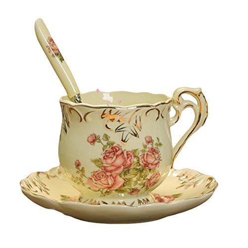 Panda Superstore Ceramic Tea Set Coffee Cup Set British Afternoon Tea Mug With Plate/Spoon
