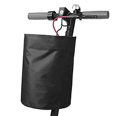 Electric Scooter Storage Basket for Xiaomi, Scooter Front Hanging Handlebar Bag Waterproof Oxford Fabric with Zipper Lid Cover, Hook and Spacer : Garden & Outdoor