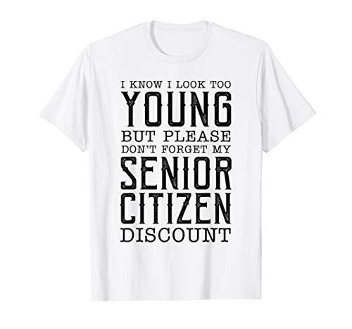 Senior Citizen Discount Reminder Useful But Funny Gag Gift T-Shirt (Citizen White T-shirt)