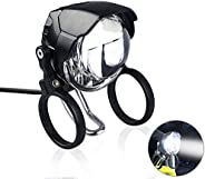Greenergia Electric Bicycle LED Headlight and Taillight 12-80V Super Bright Built-in Horn Electric Bike Headli