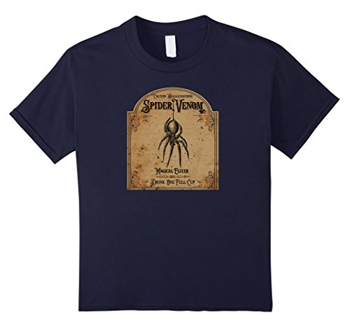 Kids Spider venom halloween t shirt 12 Navy (Venom Halloween)