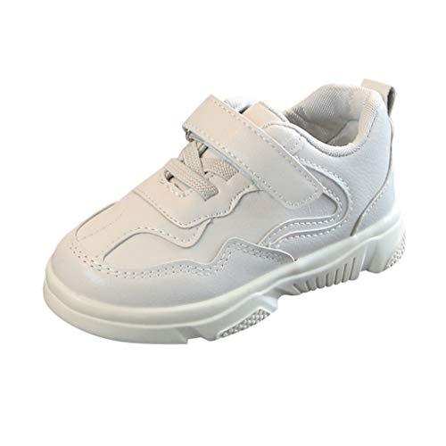 ... bebés Velcro 🎀 Verano Color sólido Zapatos de Costuras Suaves para niños Anti Sudor Cómodos Zapatos Casuales 28 - Gimnasia para niñas Deportes al Aire ...