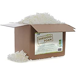 Milliard Shredded Foam: (5 pounds) Refill for Pillows, Cushions, Chairs, Dog Beds, Crafts; CertiPUR Certified NOT Intended as Bean Bag Filler
