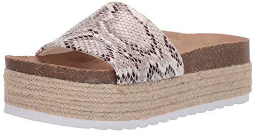 Dirty Laundry by Chinese Laundry Women's Pippa Espadrille Wedge Sandal, White Snake, 9.5 M US