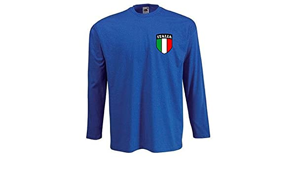 Amazon.com : Camiseta Hombre Italia Selecci?n Nacional Manga Larga - Todas Las Tallas : Sports & Outdoors