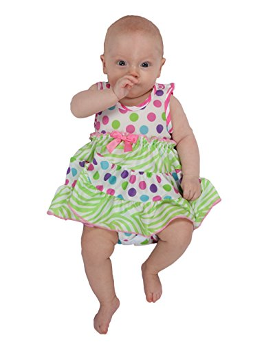 Laura Dare Baby Girls Gumballs Frilly Itsy Bitsy Jumpsuit Onesie, nb ()