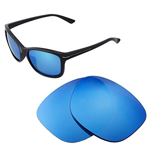 Walleva Replacement Lenses For Oakley Drop In Sunglasses - Multiple Options available (Ice Blue - - Sunglasses Drop In