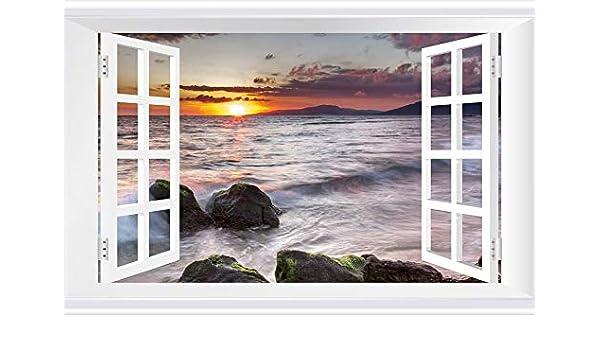 Yard Sale 5-Pack CGSignLab Nautical Wave Window Cling 30x20