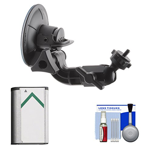 Sony Proforma PF-VCT-SC1 Suction Cup Mount with NP-BX1 Battery + Kit for Action Cam HDR-AS100V, AS15 & AS30V Camcorders
