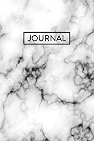 Journal: White Marble Notebook (6x9)