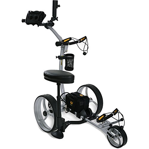 Bat-Caddy X8R Remote Control Golf Cart/Trolley - Silver - w/Deluxe Accessory Kit & Mountain Slayer Anti-Tip Bar from In The Hole Golf