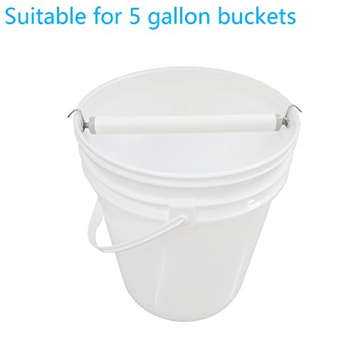 Pvc high-speed Rolling Mouse trap Bucket Mousetrap Continuous Capture Log Killer catch Mice Rat traps Kill or No Kill bucket include No need drilling required Fit 5 gallon buckets