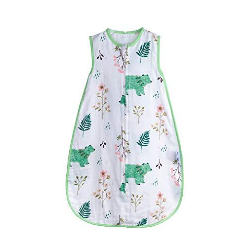 Summer Muslin Sleepbag, Soft Cotton Wearable Blanket, 2-Way Zipper Easy for Diaper Change, Breathable Infant ...