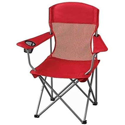 Amazon.com: Ozark Trail Basic - Silla de malla, color rojo ...