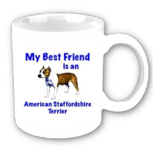 My Best Friend is American Staffordshire Terrier Coffee Cup 5