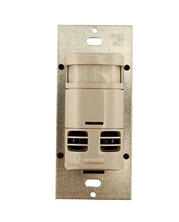 Gray Leviton OSSMT-MDG Ultrasonic//Infrared Wall Switch Sensor
