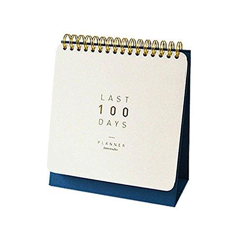 100 Days Planner Undated Planner Scheduler D-Day Count down Flip Calendar Desktop Easel Calendar Spiral Bound Calendar Planner Organizer, 5.86