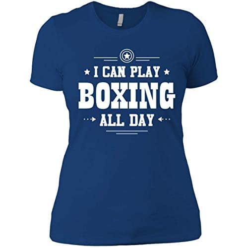 You Can T Play Boxing Shirt: Amazon.com: The Maniacs I Can Play Boxing All Day Women T