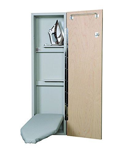 Iron-A-Way Deluxe Non-Electric Ironing Center, Raised Maple Panel Door by Iron-a-Way