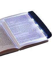 HERCHR LED Paperback Boek Licht, Draagbare Lezen Nachtlampje Ogen Beschermen Panel Boek Leeslamp met Afneembare Pagina Clip voor Nachtlezen, 6.9x5.6 inch