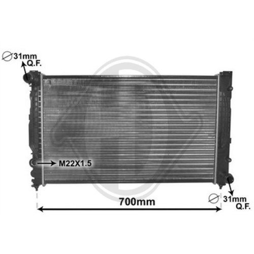 Diederichs DCM1455 Radiator, radiator: