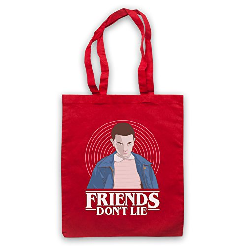 Stranger Things Elle Eleven 11 Friends Don't Lie Tote Bag Red