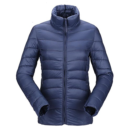 Packitcute Color Women's Coat Navy Lightweight Short Slimming Frivolous Down Solid Jacket Quilted rOSq7rU
